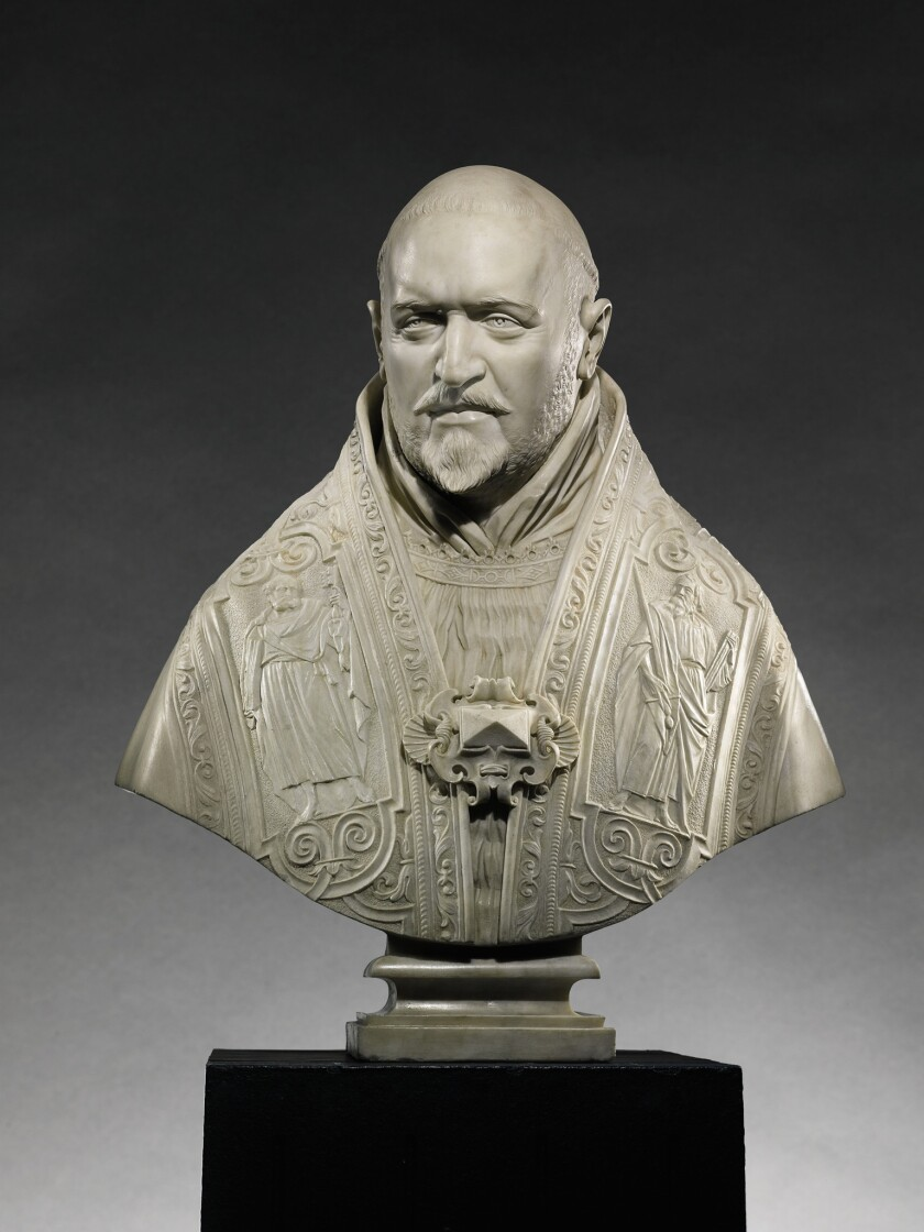 Bust of Pope Paul V, 1621, Gian Lorenzo Bernini (1598-1680), marble. J. Paul Getty Museum, Los Angeles.