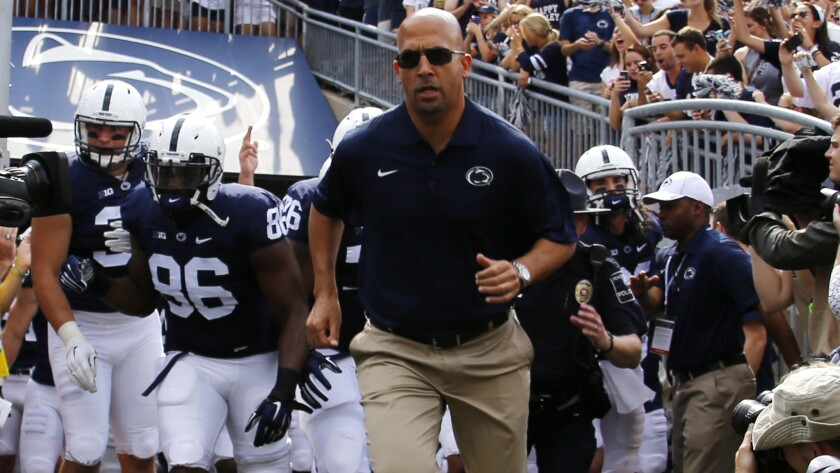 Penn State's James Franklin followed a coaching path similar to USC's Clay Helton.