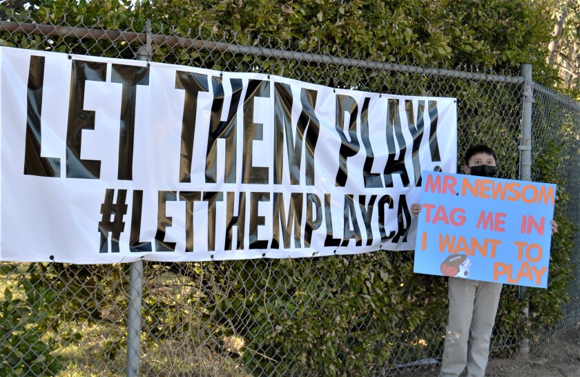 A Let Them Play Rally last month called for the return of youth sports.