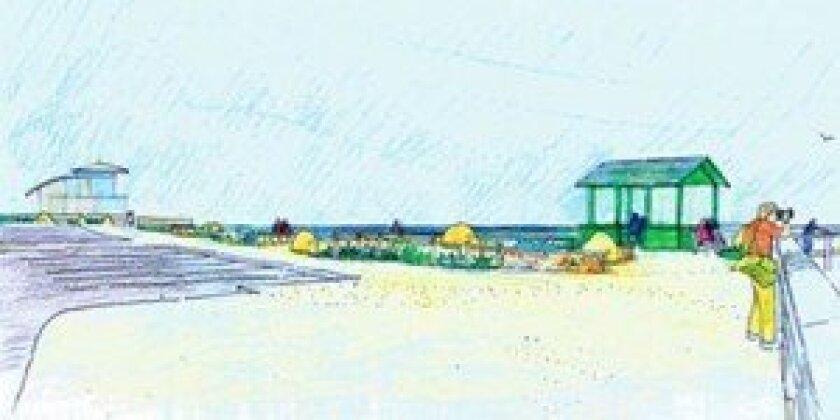 Design architect Jim Neri's plan for the Children's Pool Walk.