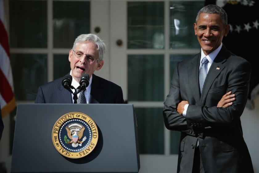 Judge Merrick Garland, President Obama's nominee for the Supreme Court