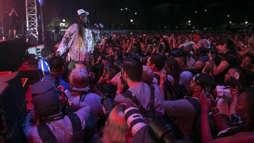 Missy Elliott performs at the 2017 edition of the FYF Fest.