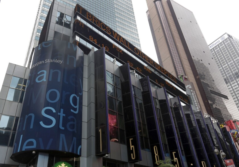 Morgan Stanley headquarters, near Times Square, in New York.