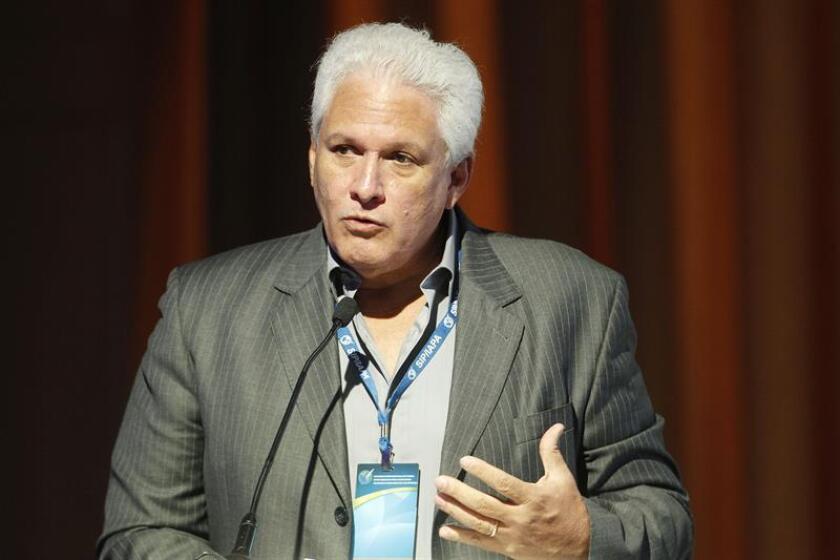 El presidente de la SIP, Gustavo Mohme, durante una conferencia de prensa. EFE/Archivo