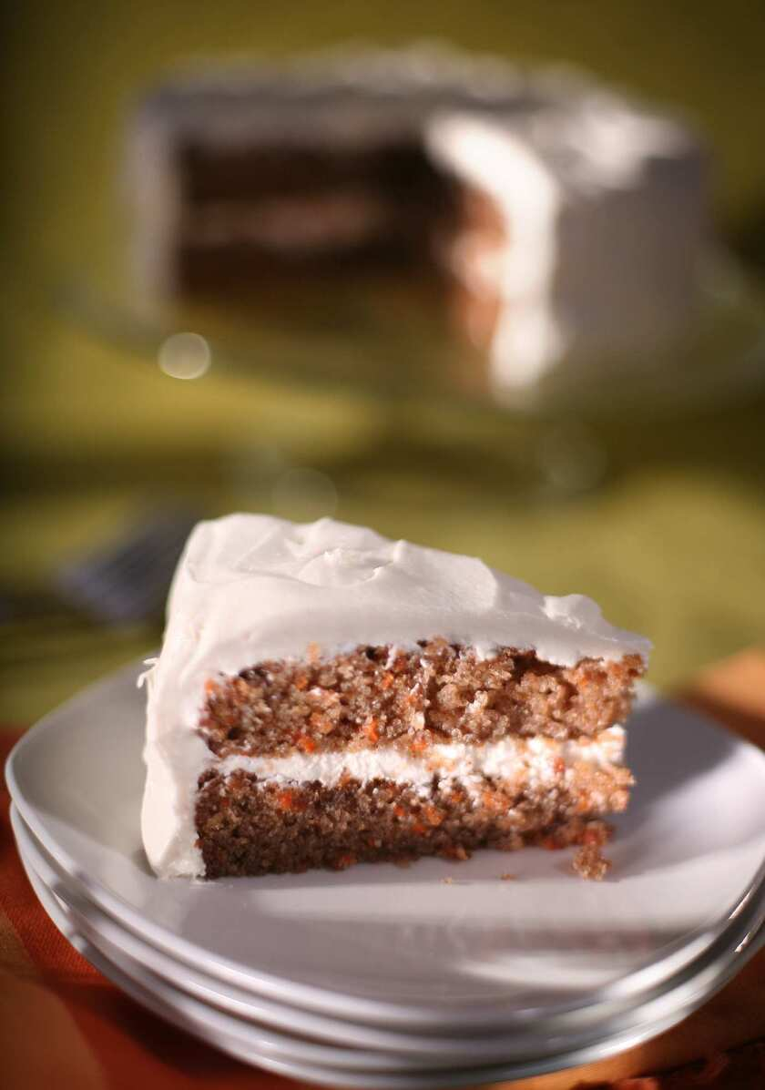 Charm City carrot cake with Duff's cream cheese frosting.