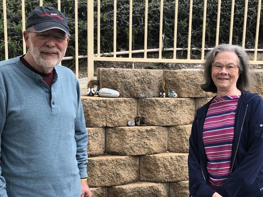 Robert Clarke and his wife, Ann Clarke, in Santa Clarita.