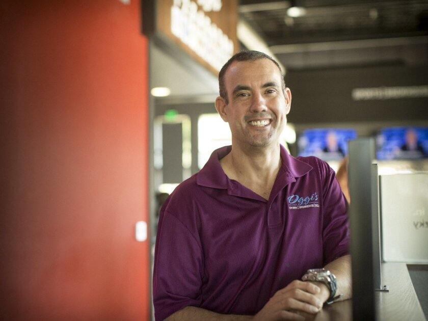 Brian Rustad the new owner/general manager at Oggi's Sports/Brewhouse/Pizza in Vista.