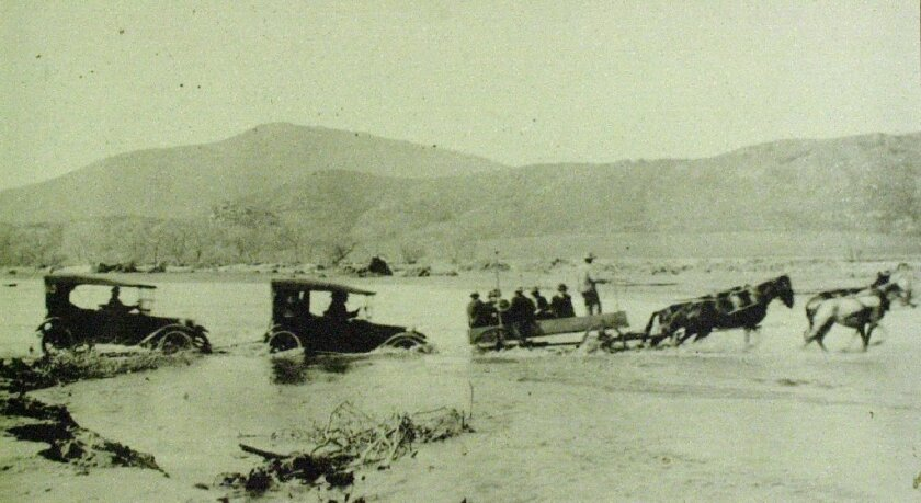 An example of the flooding that occurred in January 1916. / photo from San Diego Historical Society