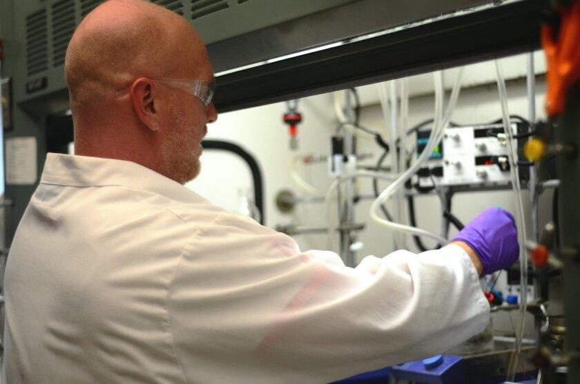 Researcher Christopher Matthews at work at Takeda.