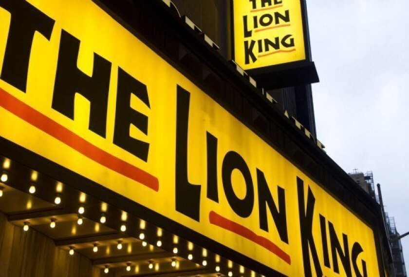 """New York's Minskoff Theatre, home of """"The Lion King."""""""