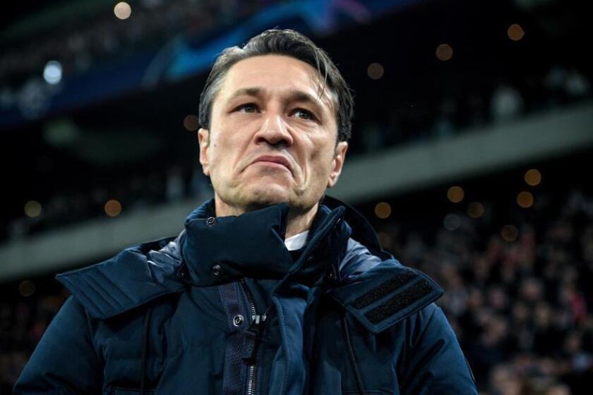 El entrenador de Bayern Niko Kovac, en un partido del grupo E de la Liga de Campeones entre Ajax Amsterdam y FC Bayern Munich en Amsterdam (Holanda), ayer. EFE
