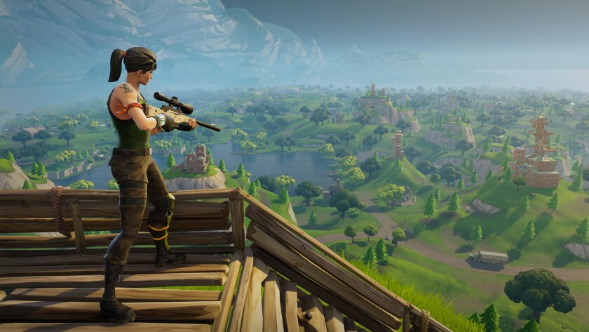 An image from the popular video game Fortnite.