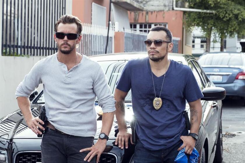 """El actor JJ Soria, protagonista de la """"banda policial"""" de la serie """"The Oath"""""""