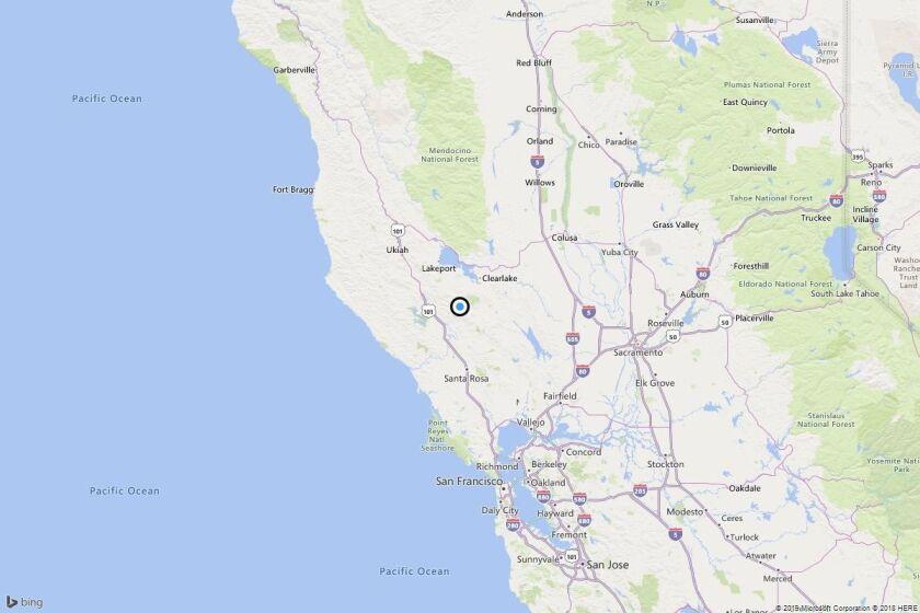 Earthquake: 3.1 quake strikes near Mercuryville, Calif.