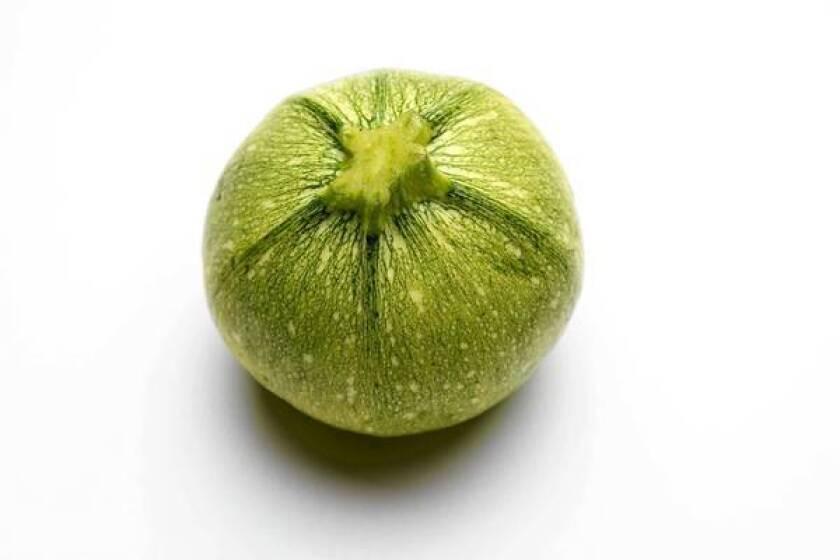 Round zucchini.