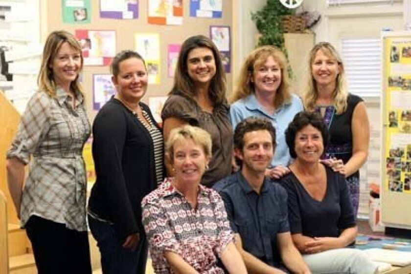 Gillispie early childhood teachers who have attended recent conferences include, back row, Michelle Quinton, Kristen Pace, Jennifer Tarantino, Kathy Harte and Kim Abrams; front, Alison Fleming, Head of School, Theron Royer, Liesbeth Goedman. Photo: The Gillispie School