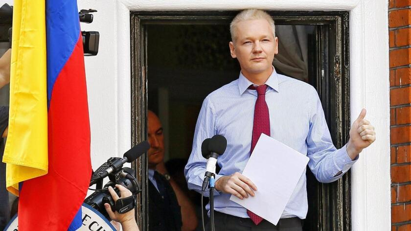 Foto de archivo de Julian Assange