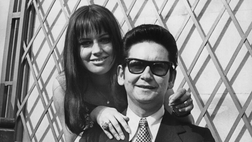 Roy Orbison and his wife, Barbara, during a tour of Britain in 1969, a year of heartache for the singer.