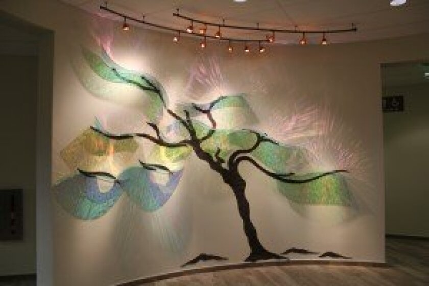A tree art installation in the lobby. Photo/Karen Billing