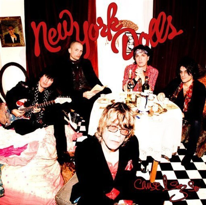 "In this CD cover image released by Atco Records, The New York Dolls, ""Cause I Sez So,"" is shown. (AP Photo/Atco)"