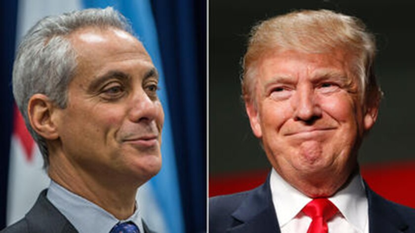 Donald Trump tweeted Jan. 2, 2017, about Chicago and its violence, suggesting the mayor should ask for federal help.