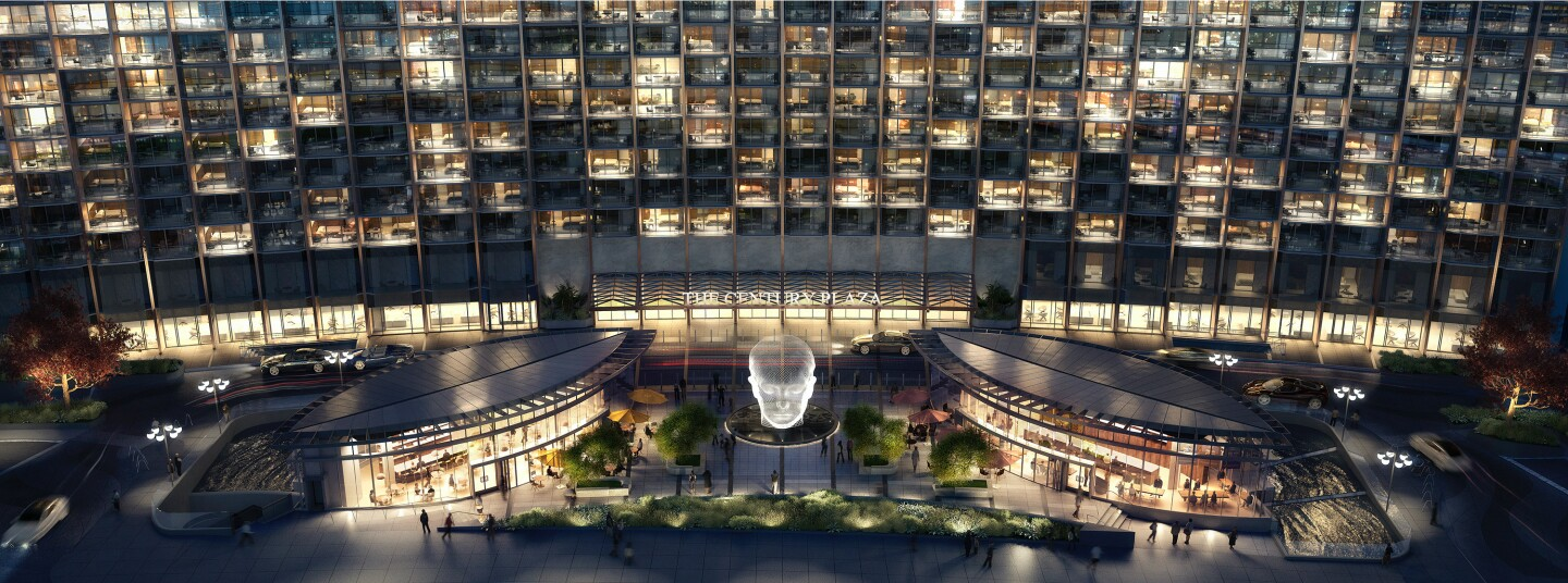 The six-acre property will hold a 19-story hotel, two 44-story condo towers and 100,000 square feet of retail space.