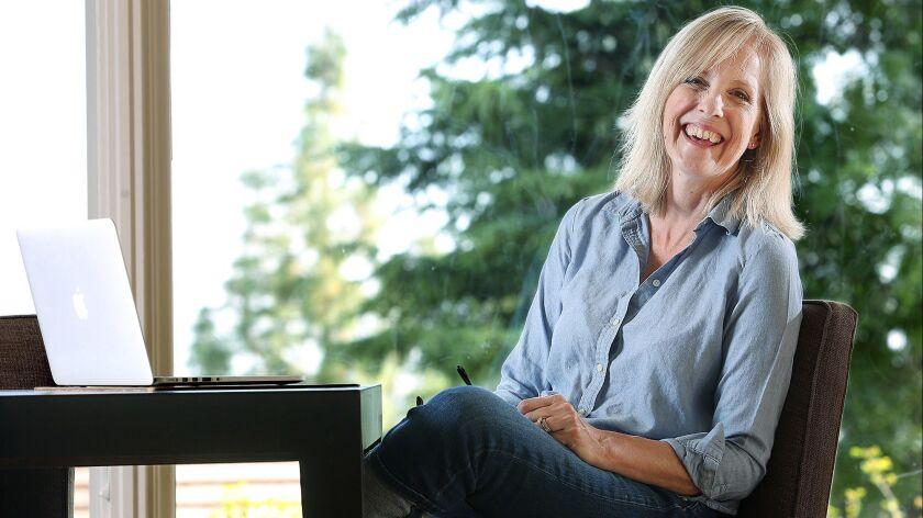 """Kristen Hansen Brakeman, author of """"Is That The Shirt You're Wearing???,"""" in her La Cañada Flintridg"""
