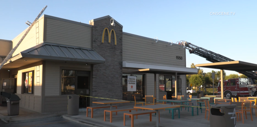 A fire caused extensive smoke damage at a McDonald's restaurant in Ramona early Wednesday.