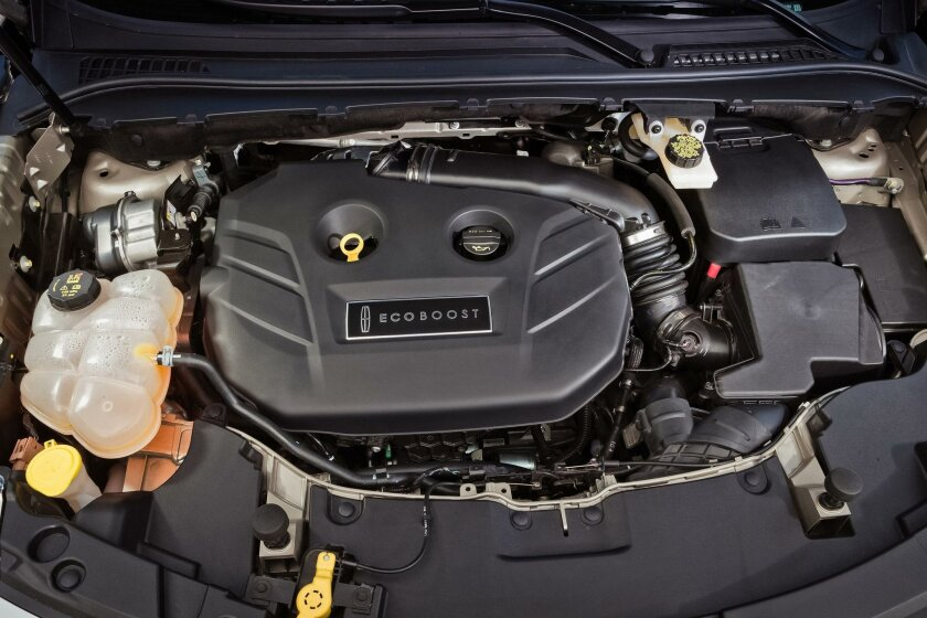 The turbocharged and direct-injection 2.3-liter four-cylinder has 285-hp and 305 foot-pounds of torque at 2,750 rpm, for a quick-off-the-line launch.