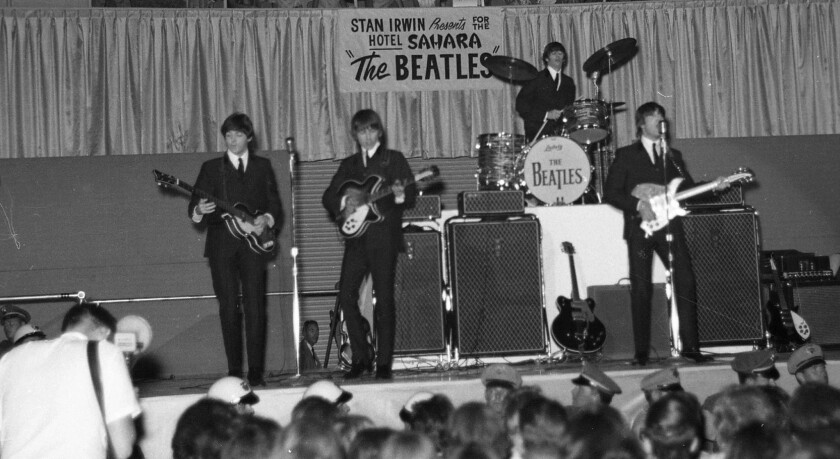 Las Vegas was the second stop for the Beatles during a 23-city U.S. tour in the summer of 1964.