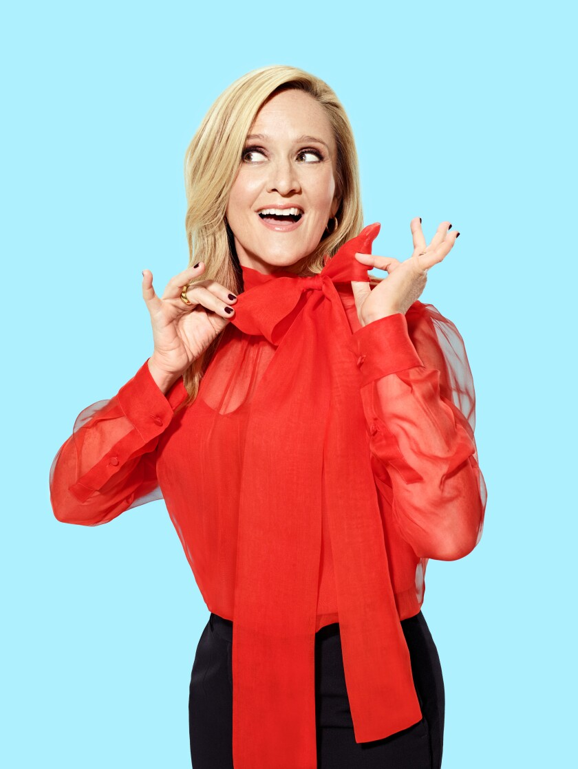 Samantha Bee makes a face for the camera