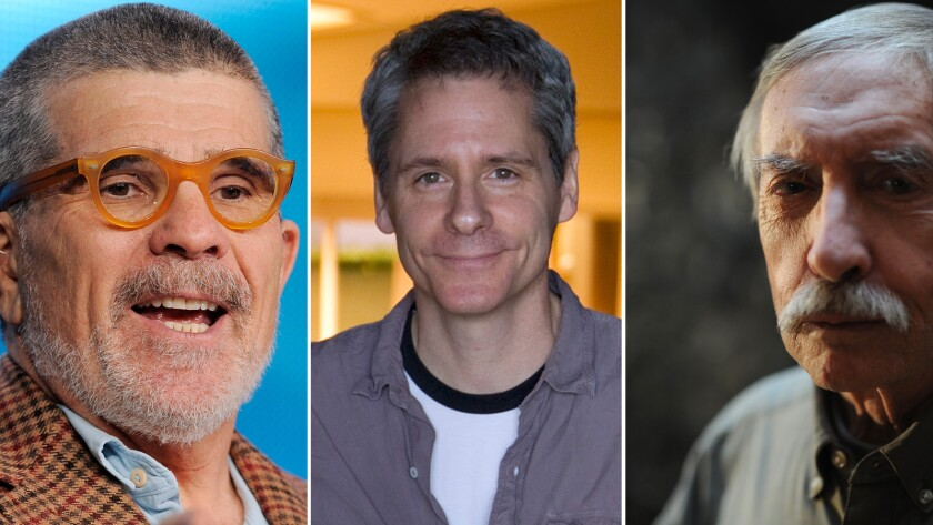 From left, playwrights David Mamet, Bruce Norris and Edward Albee.