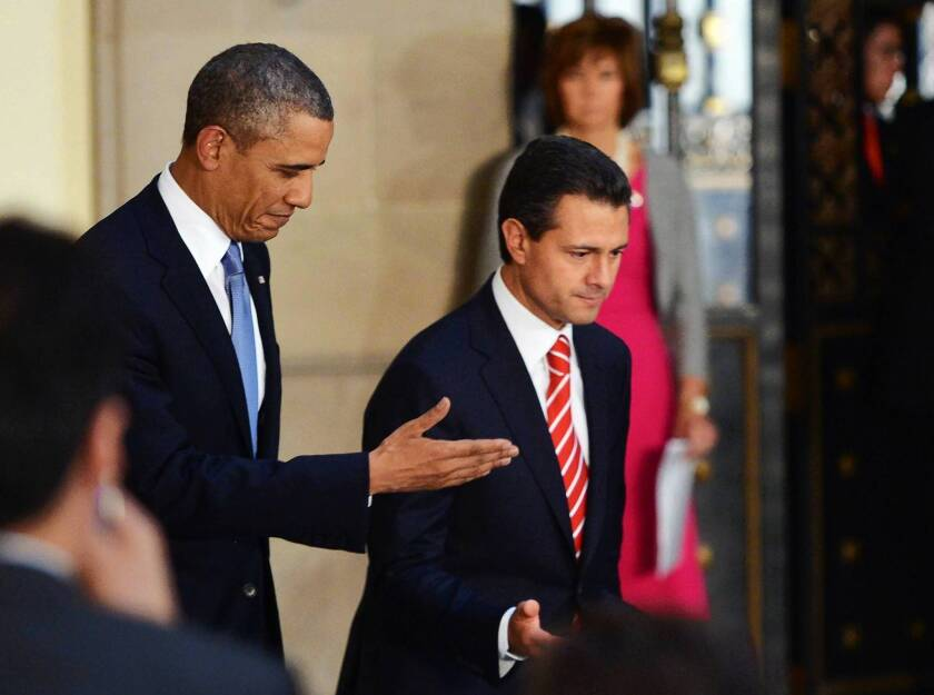 Obama, visiting Mexico, shifts focus from drug war