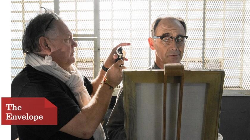 """Janusz Kaminski works with Marky Rylance on """"Bridge of Spies"""""""
