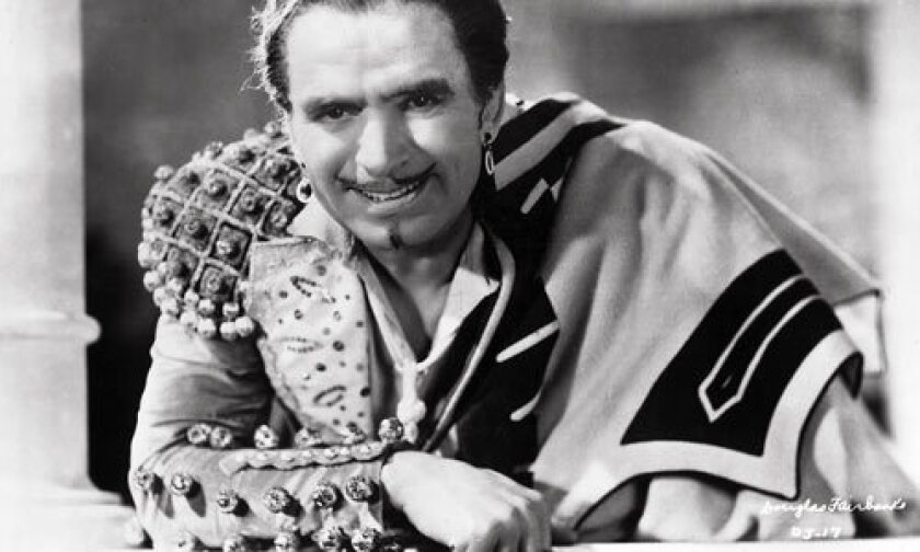 """Actor Douglas Fairbanks in """"The Private Life of Don Juan""""(1934)."""
