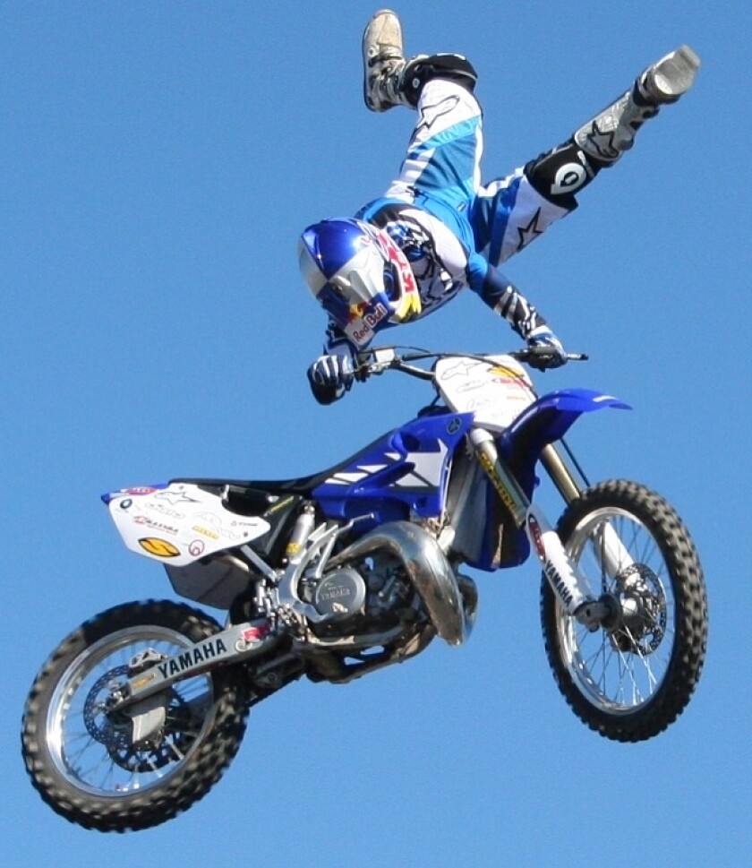 In 2000, Tommy 'Tom Cat' Clowers won a silver medal in freestyle at the X Games and a gold in the newly introduced Step Up event, racing his 250cc bike up a ramp and straight up into the air a whopping 35 feet.