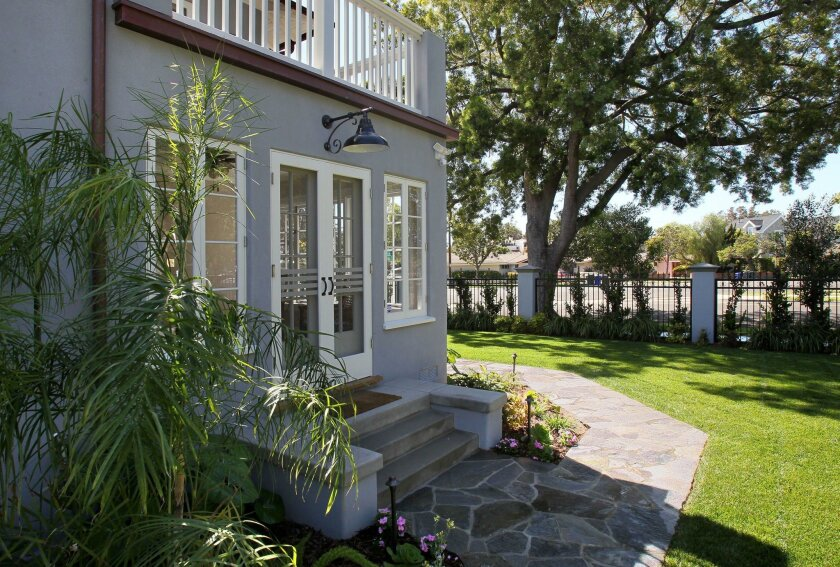 The San Diego County median home price rose to $478,000 in March, CoreLogic said. Pictured: A home Coronado on Alameda Blvd. in March.