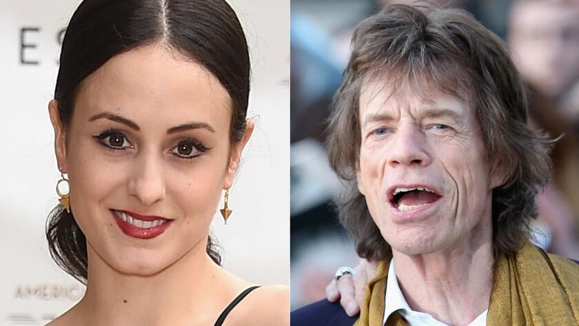 Melanie Hamrick and Mick Jagger