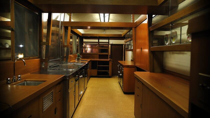 LOS ANGELES, ME- Feb. 14, 2015- A rare view of the kitchen in the Hollyhock House, one of American a