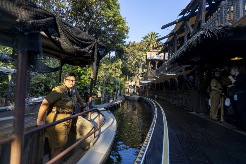 A woman on a Jungle Cruise boat