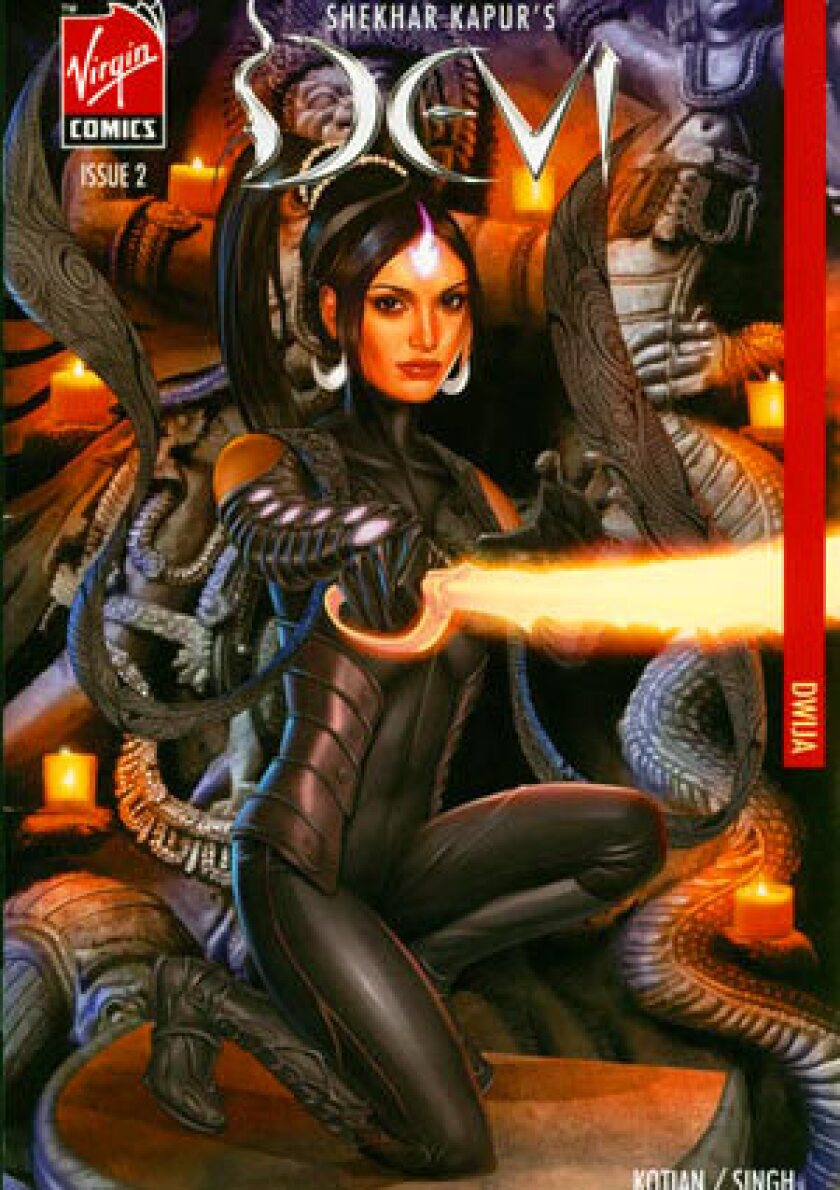 Indian supreme goddess Devi, drawn by Greg Horn, is featured on a 2006 comic.