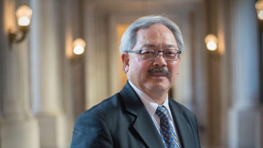 JANUARY 29, 2015 SAN FRANCISCO, CA San Francisco mayor Ed Lee poses for a portrait at city hall. Dav