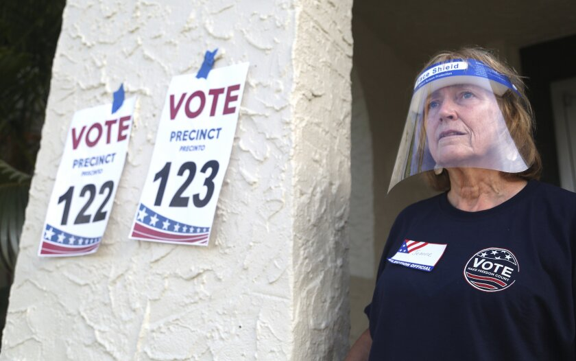 Pinellas County poll worker Jeanne Coffey