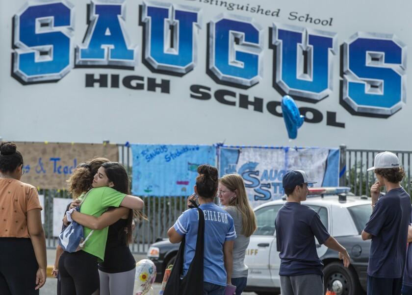 Saugus High School students