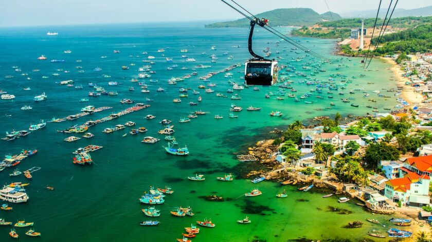 The Longest Cable Car, Phu Quoc Island in Vietnam