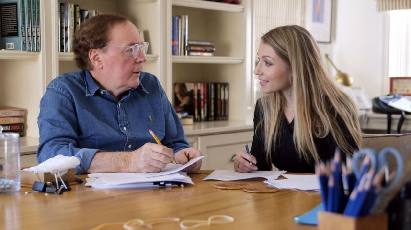 James Patterson, left, co-wrote a novel with his MasterClass student Kecia Bal after she took his on