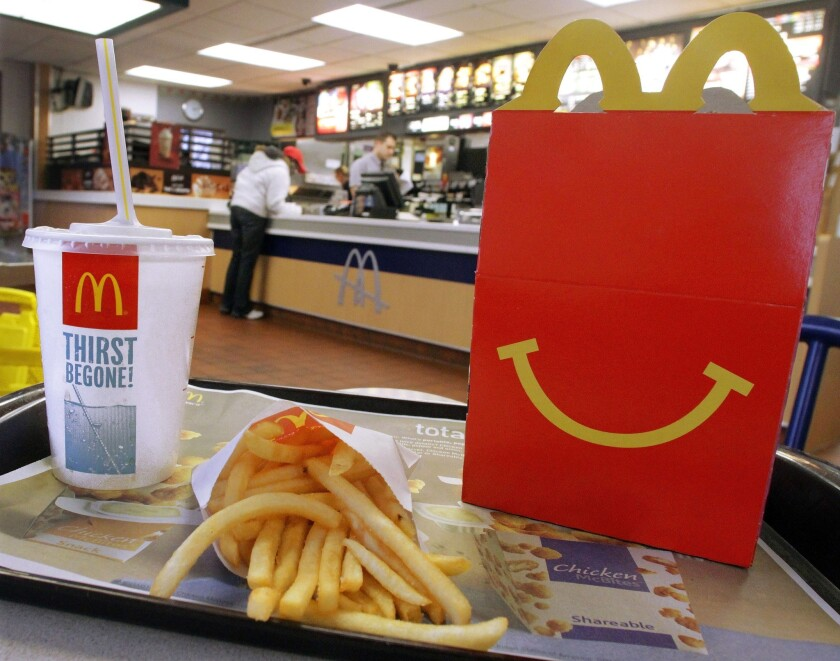 McDonald's newest mascot for kids is being ridiculed on social media. Above, a 2012 photo shows a Happy Meal at a McDonald's in Springfield, Ill.