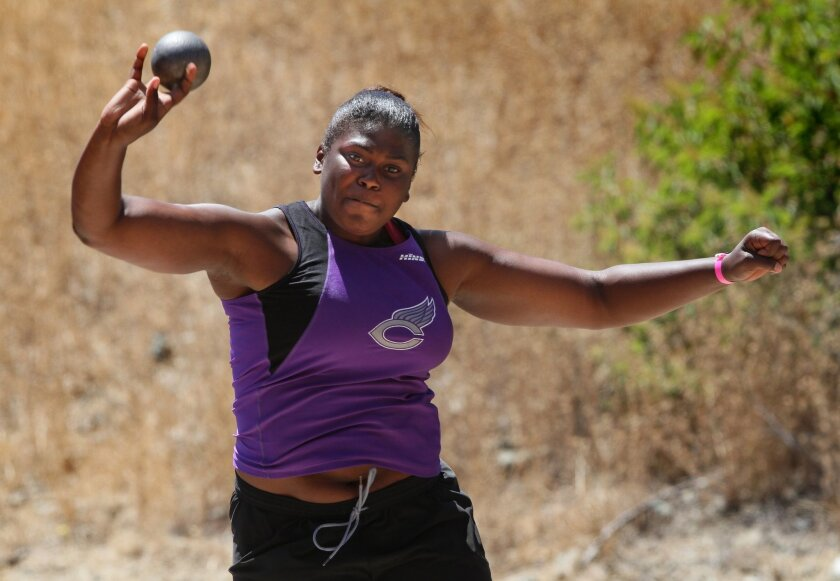 ATHLETE OF THE YEAR: Carlsbad junior Breana Jemison won the state title in the shot put with a mark of 43 feet, 1 1/4 inches.