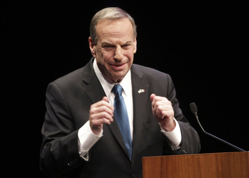 Mayor Bob Filner giving his first State of the City address at the Balboa Theatre on Tuesday.