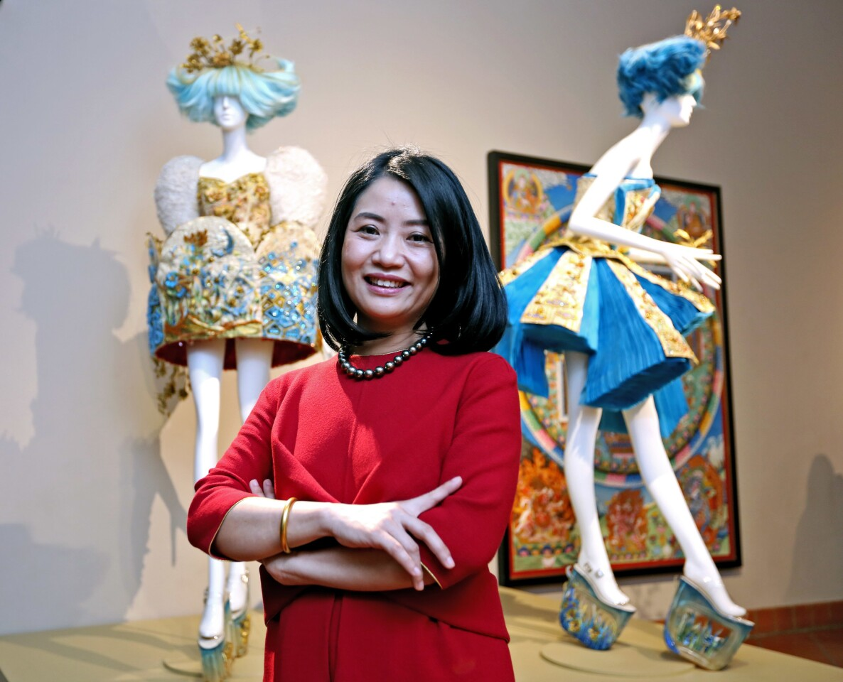 Photo Gallery: World-renowned couture designer Guo Pei at Bowers Museum